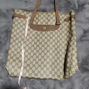 Sale Today!Authentic Gucci Tote Bag logo GG beige